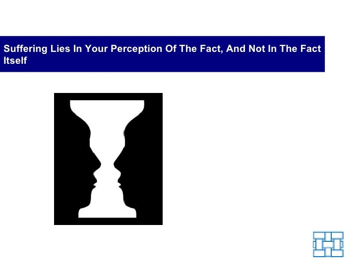 Suffering Lies in Your Perception of the Fact and Not the Fact Itself