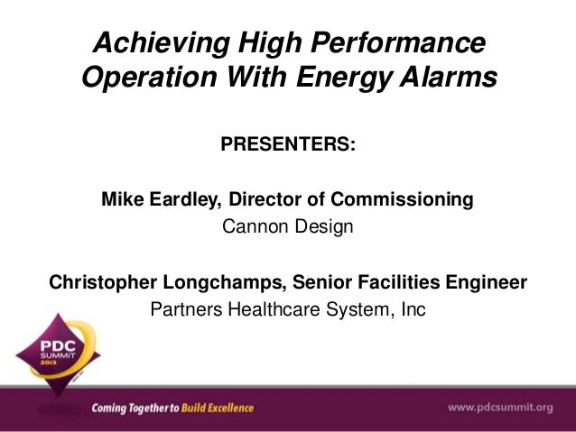 Achieving High Performance Operation With Energy Alarms