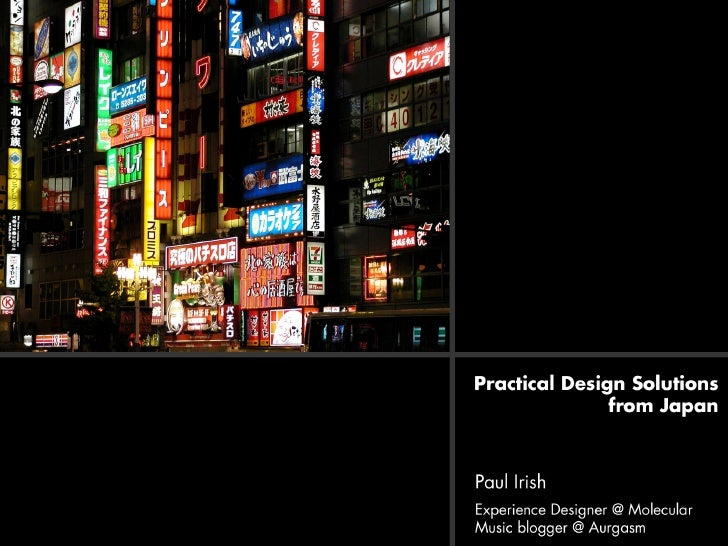 Practical Design Solutions from Japan