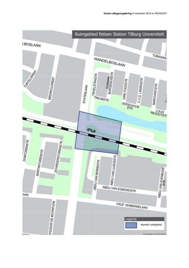 ruimgebieden voor de fietsen in Tilburg