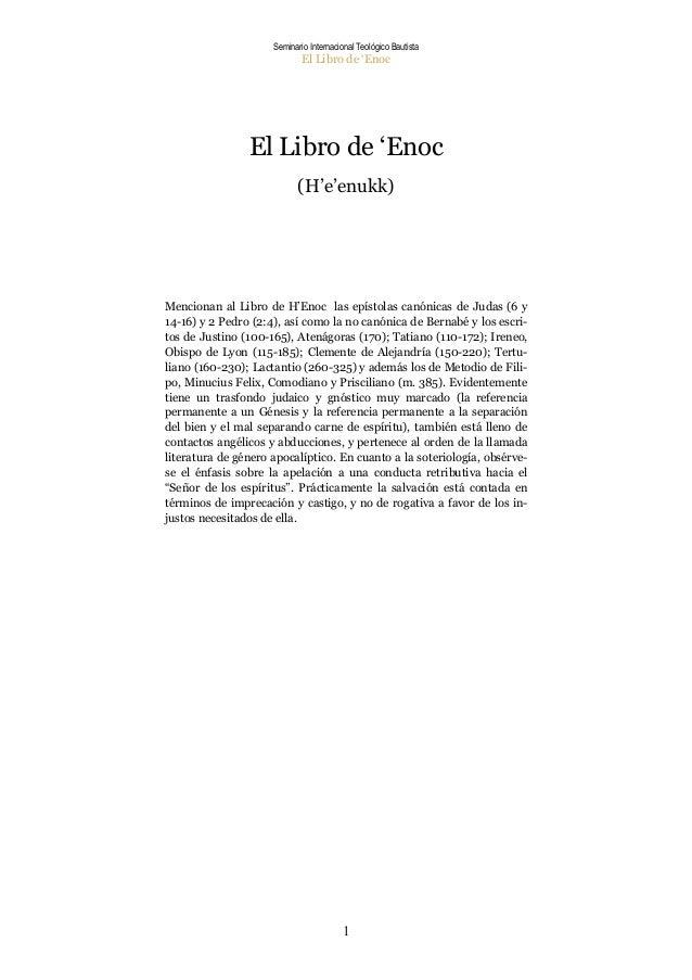 Seminario Internacional Teológico Bautista                             El Libro de 'Enoc                El Libro de 'Enoc ...