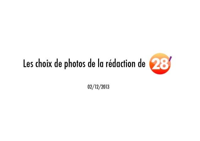 Les choix de photos de la rédaction 28'