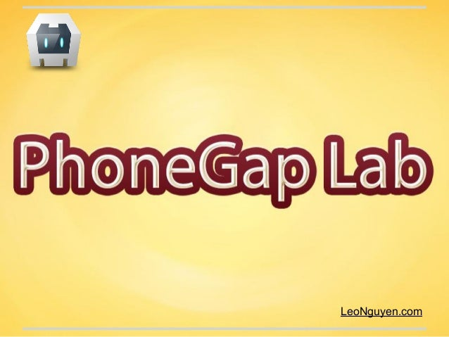 PhoneGap Lab