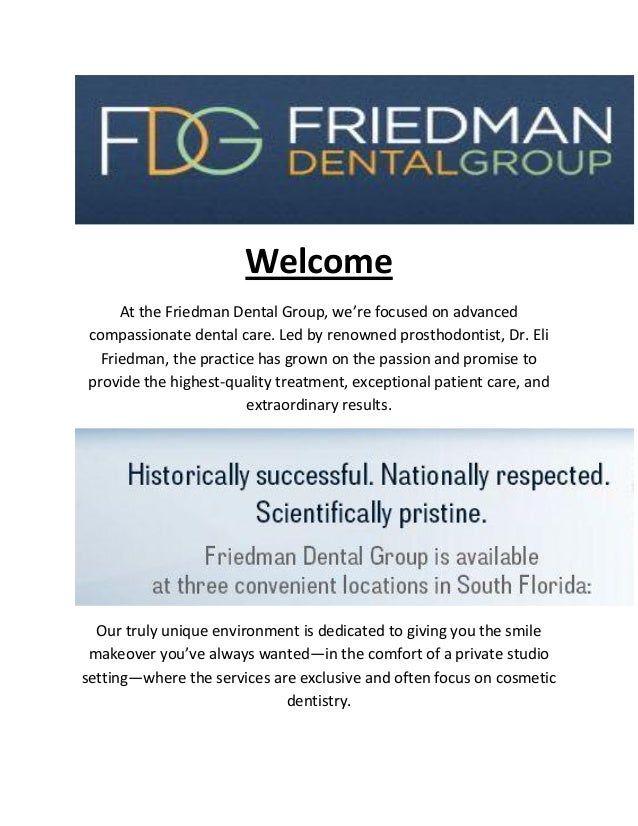 Friedman Dental Group: Cosmetic Dentist in Coral Springs