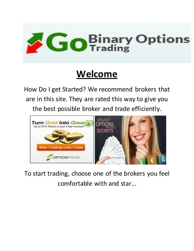 Binary option trading examples