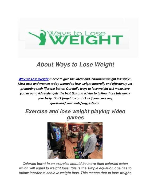 Ways to lose weight fast pdf printer