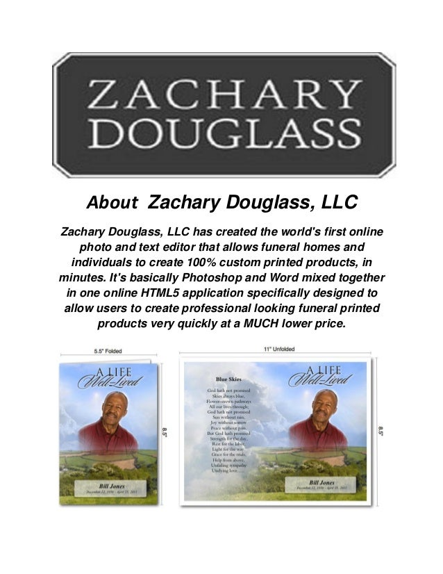 zachary douglass llc funeral programs templates. Black Bedroom Furniture Sets. Home Design Ideas