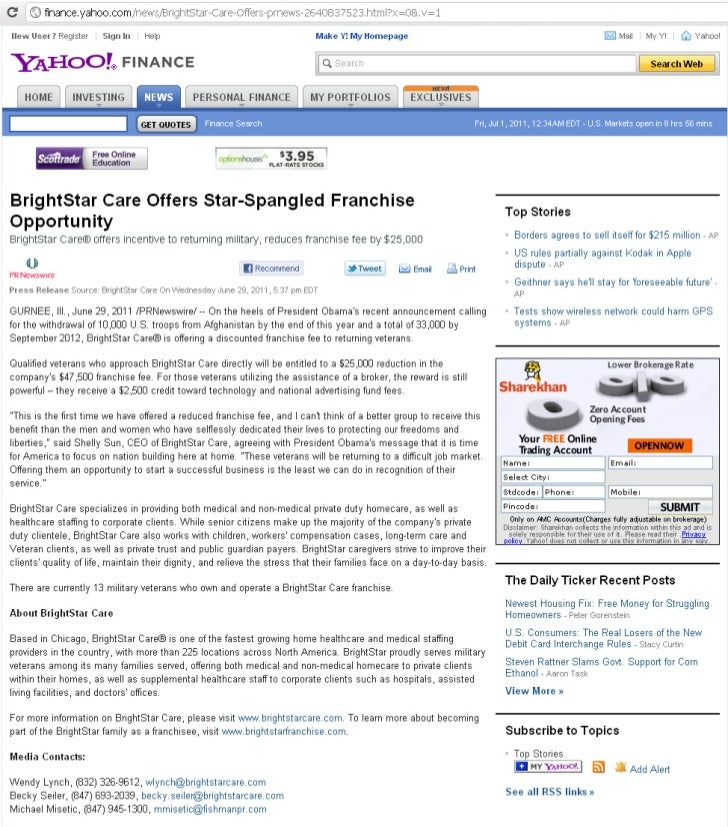 BrightStar Care Offers Star-Spangled Franchise Opportunity