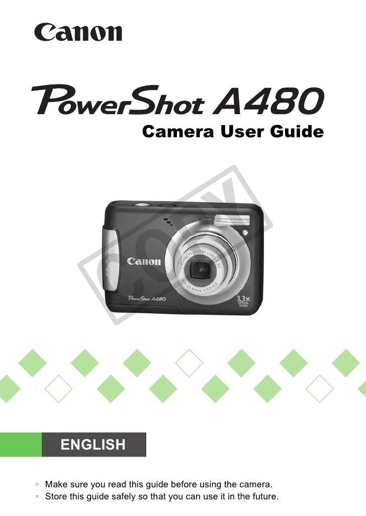 Camera User Guide                                     PY                     C         O        ENGLISH  • Make sure you r...