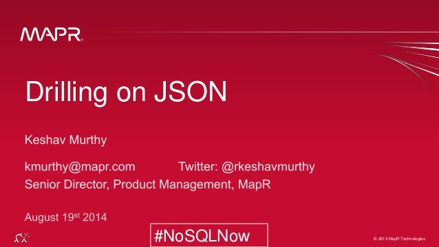 Drilling on JSON