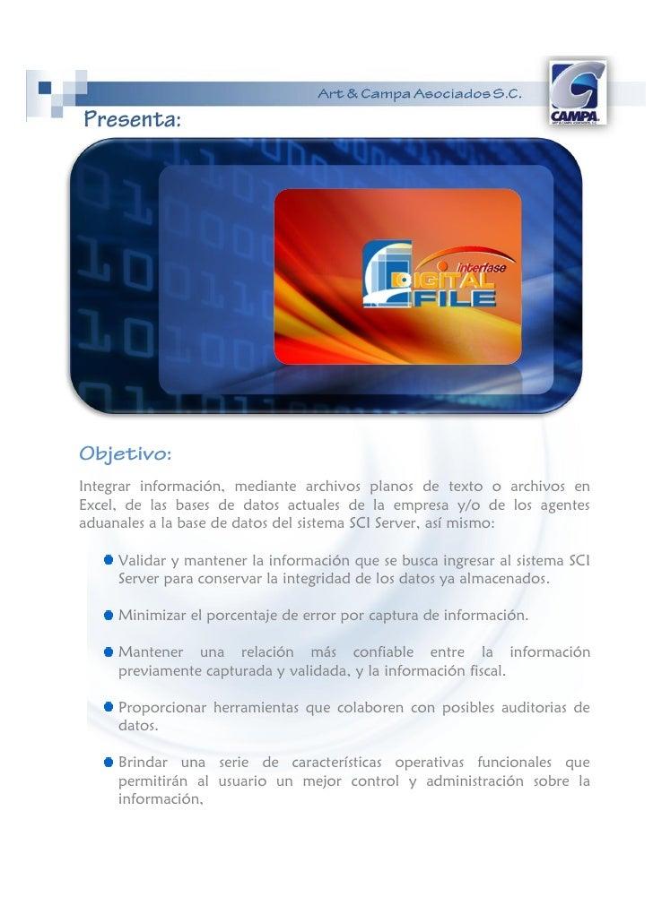 Digital File Interfase