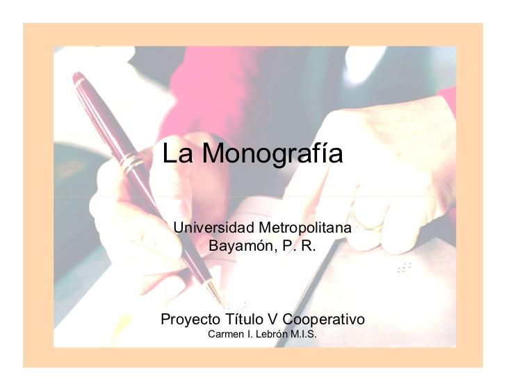 Ejemplo De Monografia