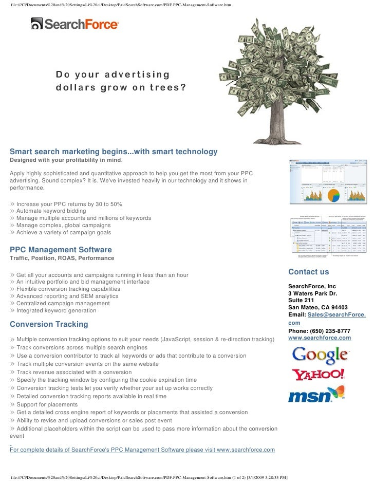 Smart search marketing begins...with smart technology Designed with your profitability in mind.  Apply highly sophisticate...
