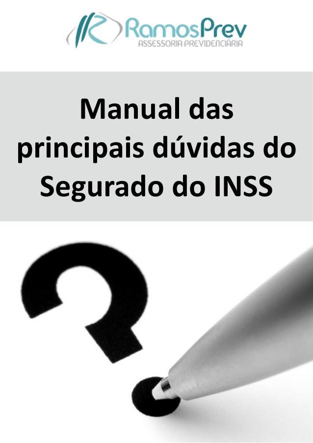 Manual  das   principais  dúvidas  do   Segurado  do  INSS