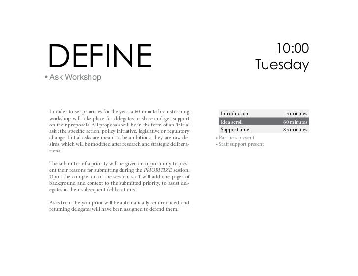 DEFINE• Ask Workshop                                                                                                10:00 ...