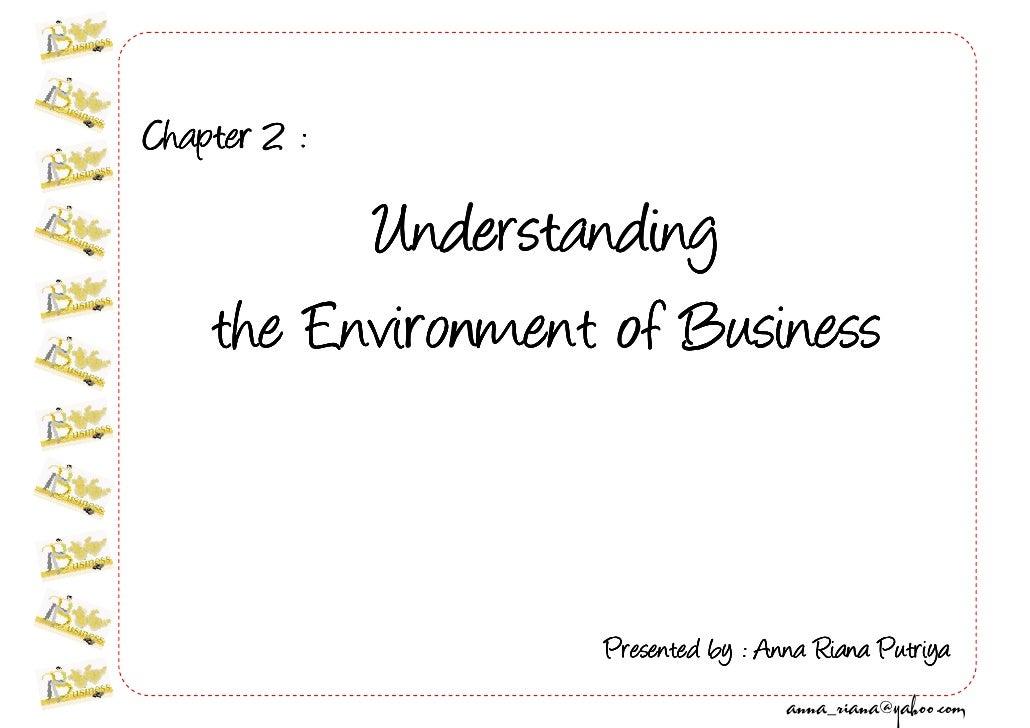 Business w02 Understanding Business Environment @1