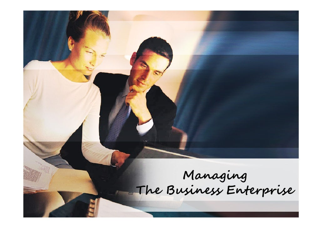 Managing The Business Enterprise