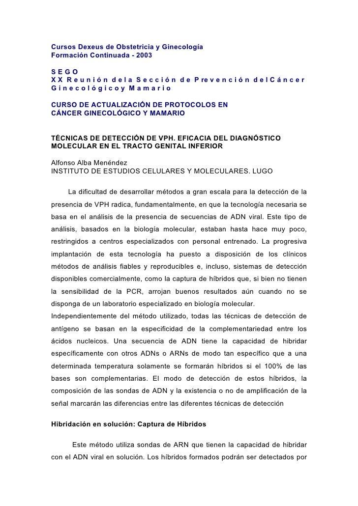 Cursos Dexeus de Obstetricia y Ginecología Formación Continuada - 2003  SEGO X X R e u n i ó n d e l a S e c c i ó n d e P...