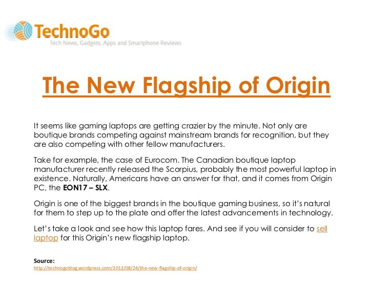 The New Flagship of Origin