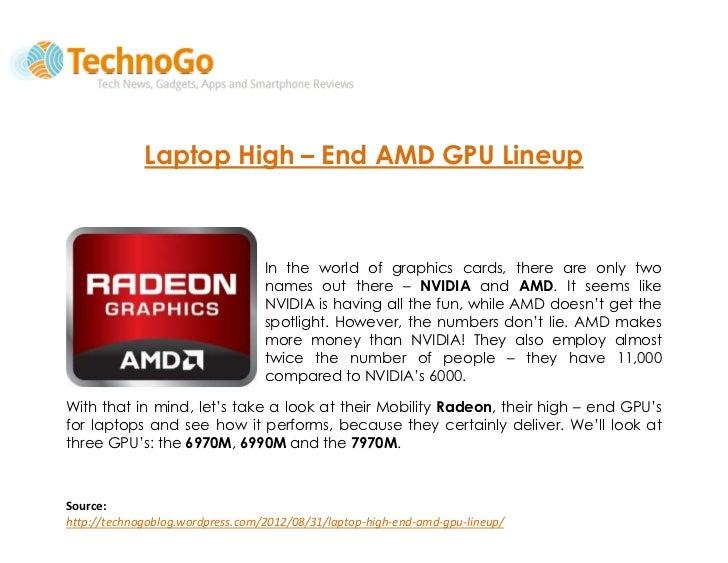 Laptop High – End AMD GPU Lineup