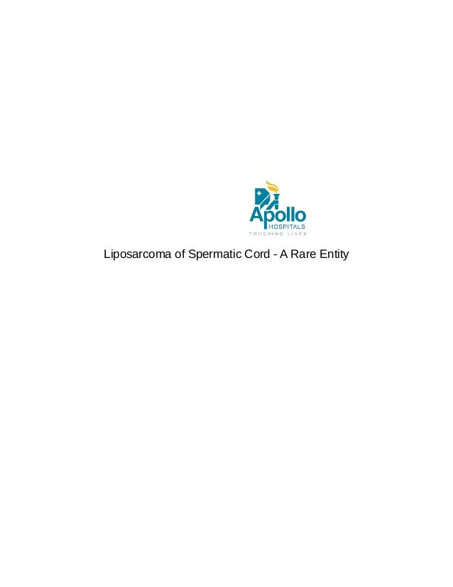 Liposarcoma of Spermatic Cord - A Rare Entity