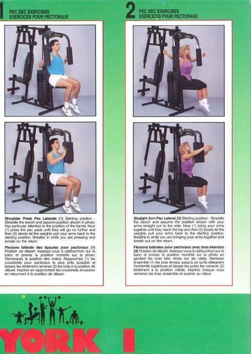 Workout Guide at Home Weider Home Gym Workout Chart