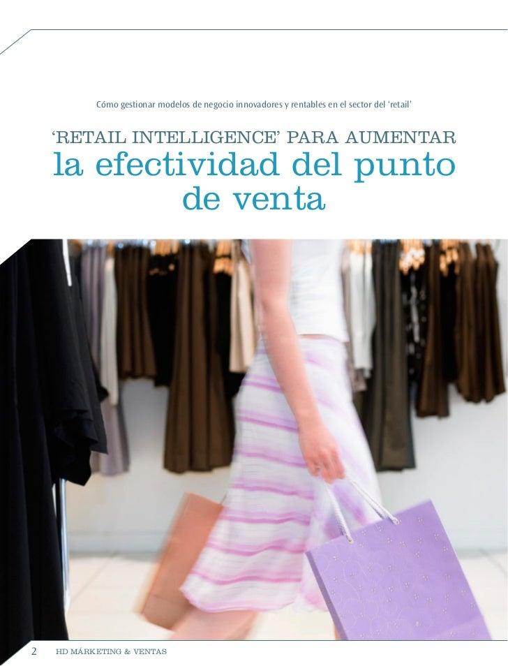 Retail Intelligence para aumentar  la efectividad del punto  de venta