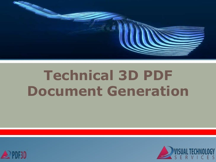 Technical 3D PDFDocument Generation