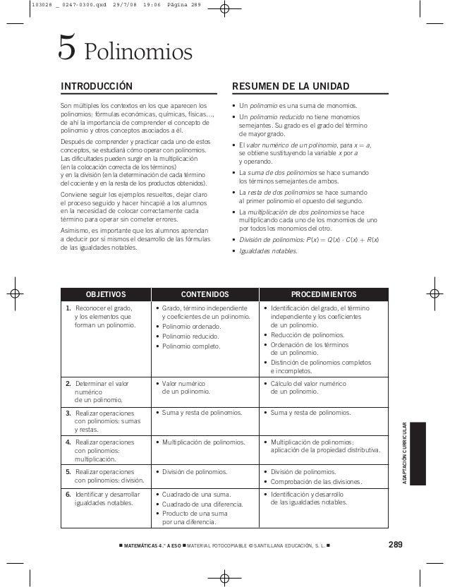 Polinomios5 INTRODUCCIÓN Son múltiples los contextos en los que aparecen los polinomios: fórmulas económicas, químicas, fí...
