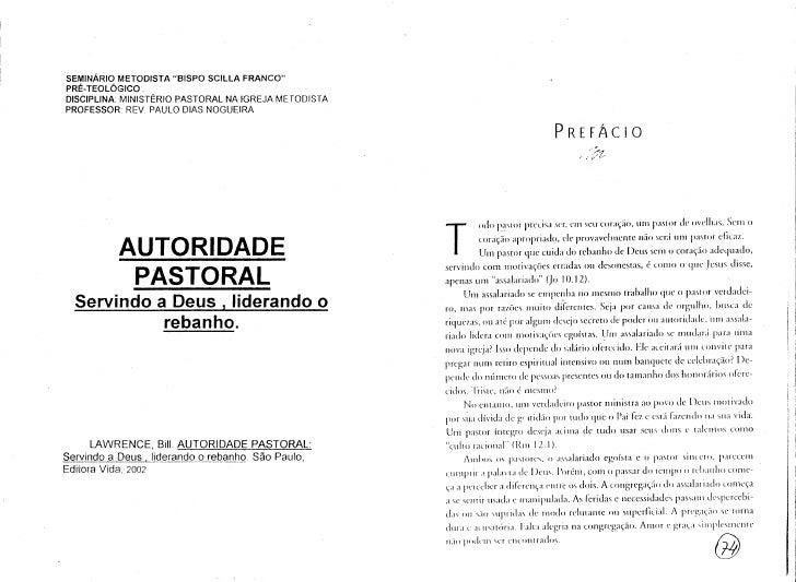 """SEMINARIO METODISTA """"BISPO SCILLA FRANCO""""PRE-TEOL6GICO,D1SCIPlINA: MINISTERIO PASTORAL NA IGREJA METODISTAPROFESSOR REV PA..."""
