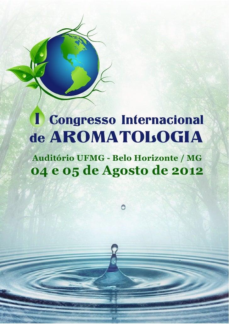 Auditório UFMG - Belo Horizonte / MG04 e 05 de Agosto de 2012