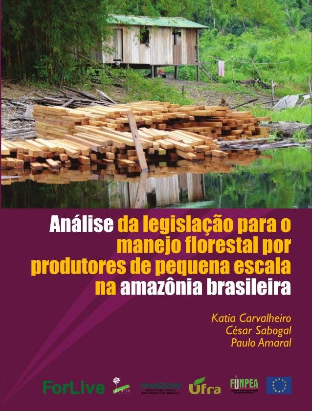 Análise da Legislação para o Manejo Florestal por Produtores de Pequena Escala na Amazônia Brasileira