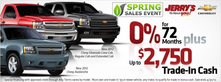 Don't Miss Jerry's 2012 Spring Sales Event!
