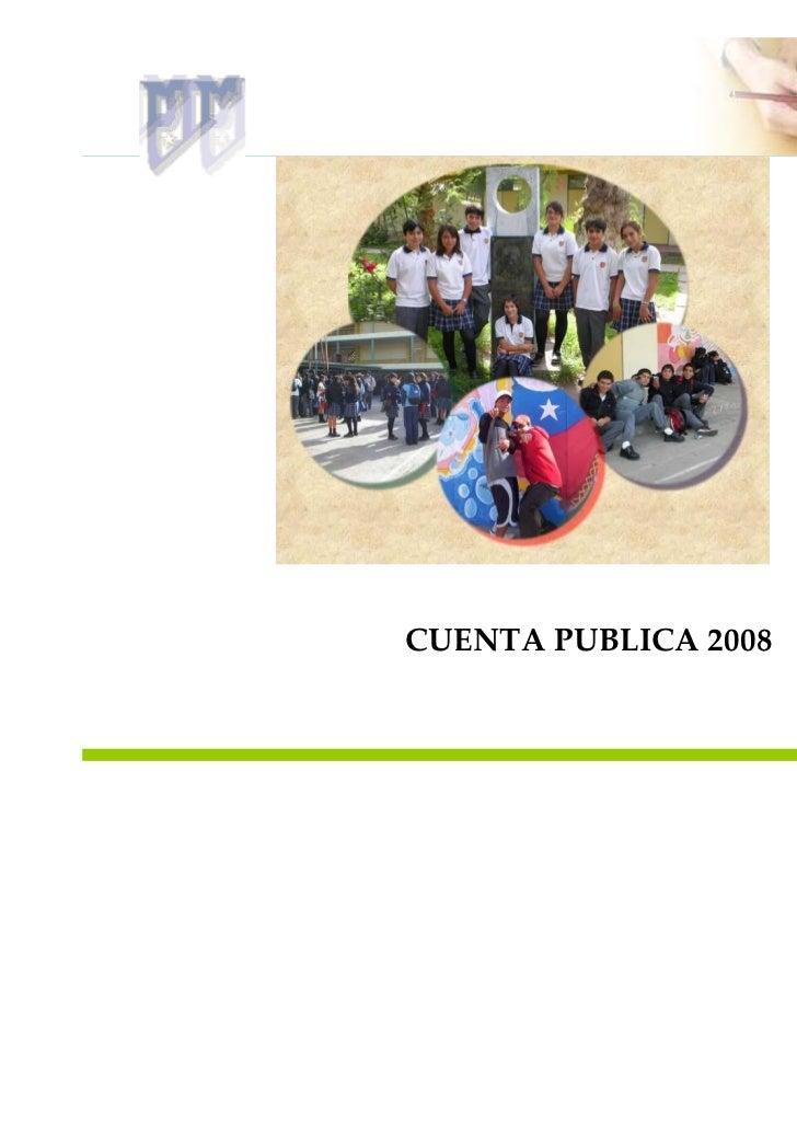 Cuenta Publica 2008