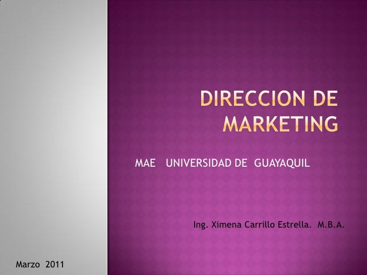 Pdf  curso de direccion de  marketing    ximena carrillo