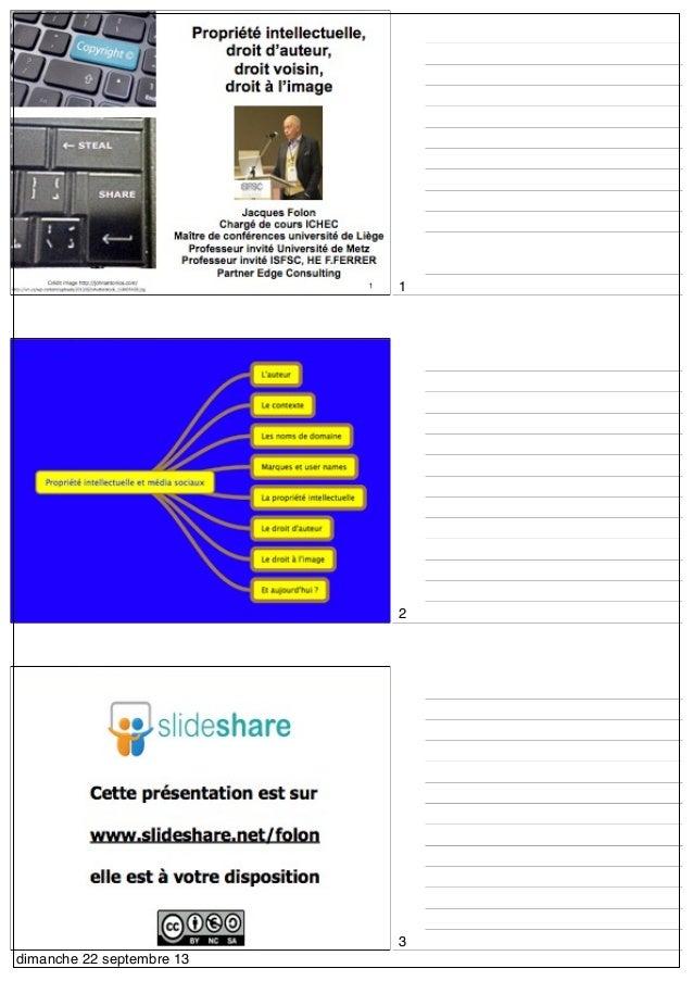 Propriété intellectuelle, droit d'auteur, noms de domaines et user names, droit à l'image