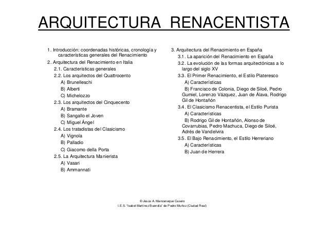 Pdf de la arquitectura renacentista for Caracteristicas de la arquitectura