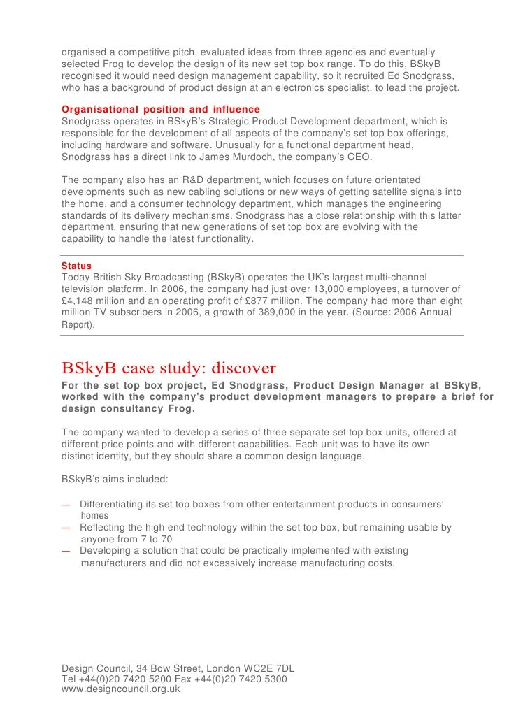 bskyb research To cite this document: john j oliver, (2012),winning in high velocity markets: the case of bskyb, strategic direction, vol 28.