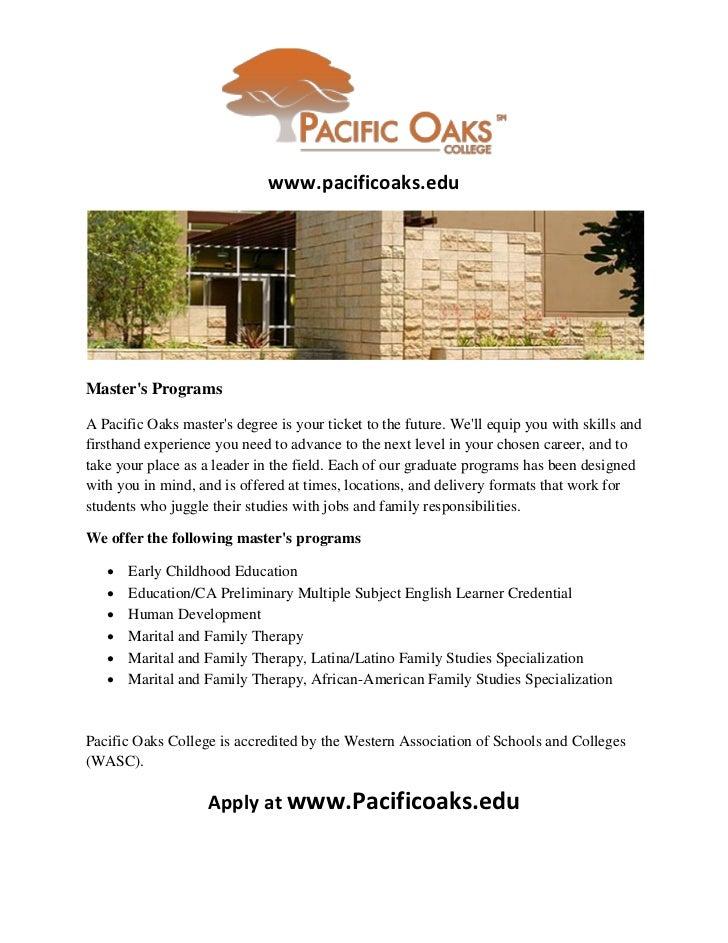 Education Master's Programs California