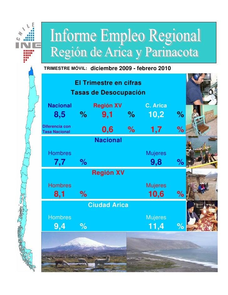 TRIMESTRE MÓVIL:       diciembre 2009 - febrero 2010                    El Trimestre en cifras                  Tasas de D...