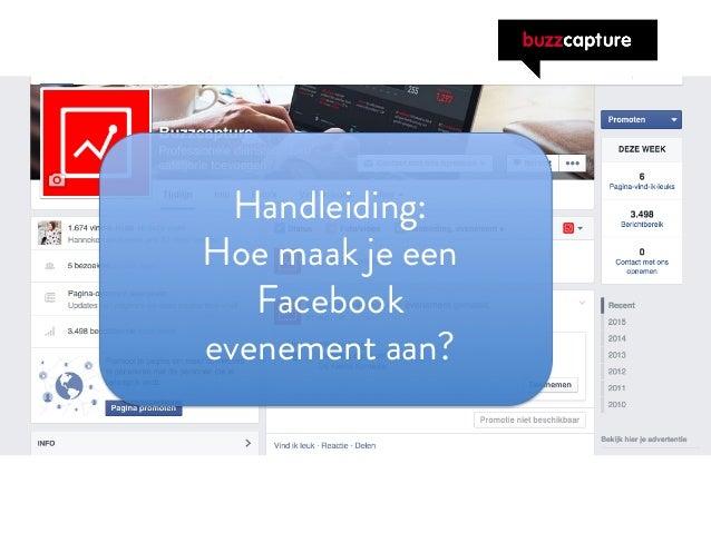 Handleiding hoe maak je een facebook evenement aan - Maak een hoofdbord aan ...