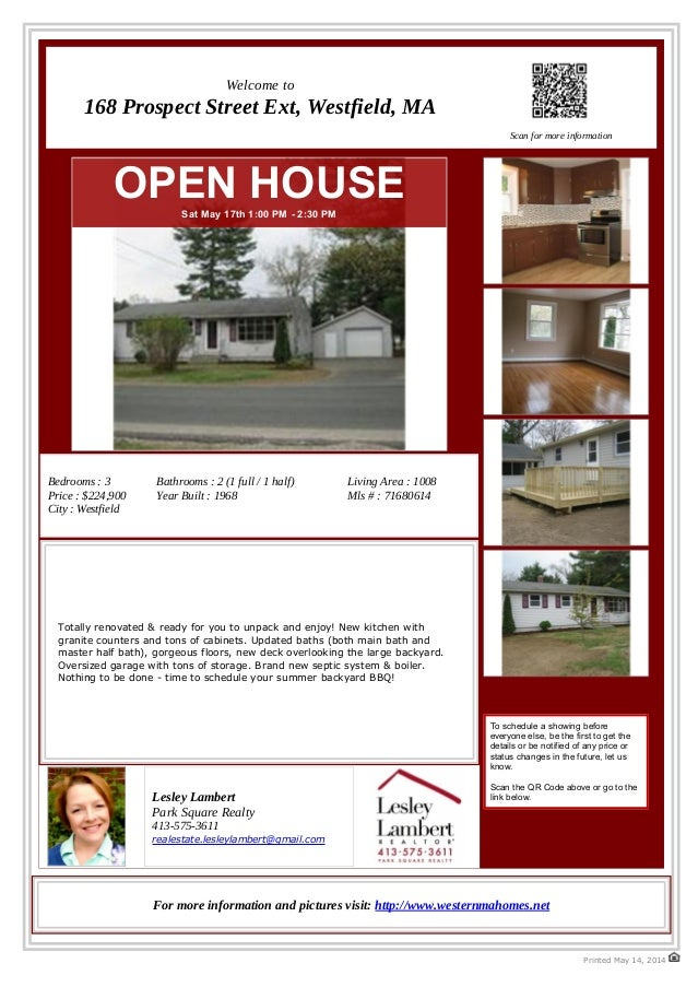 Renovated Ranch for Sale - 168 Prospect St Ext, Westfield, MA 01085