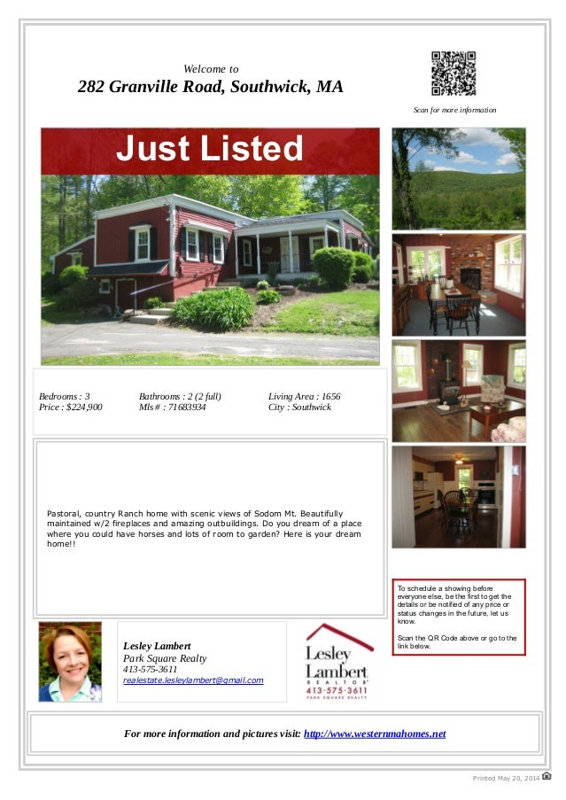 282 Granville Road, Southwick, MA 01077 Country Home for sale with room for horses