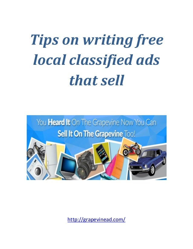 Useful Information On Writing Free Classified Ads That