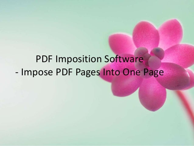 PDF Imposition Software - Impose PDF Pages Into One Page
