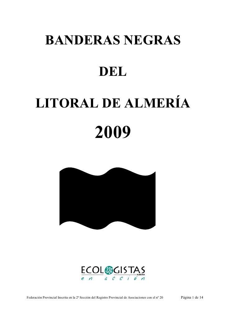 BANDERAS NEGRAS                                                      DEL        LITORAL DE ALMERÍA                        ...