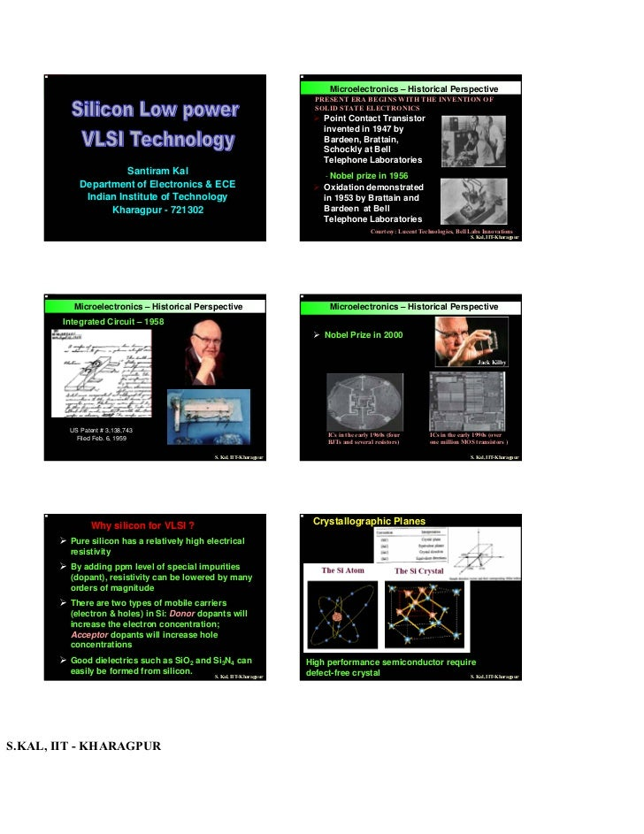 Microelectronics – Historical Perspective                                                                        PRESENT E...