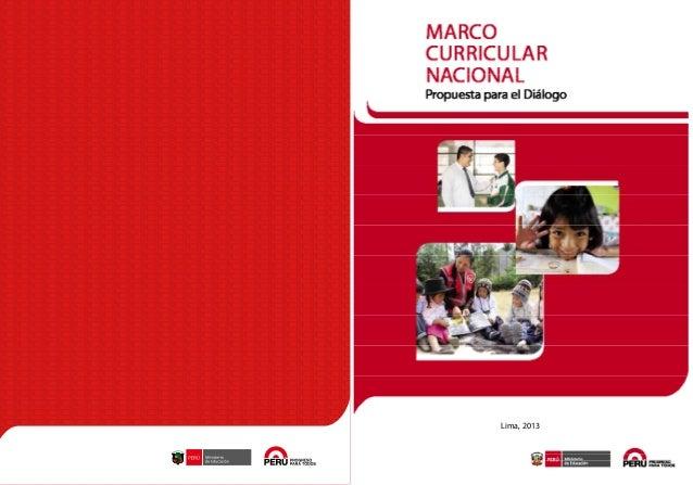 MARCO CURRICULAR NACIONAL Propuesta para el Diálogo