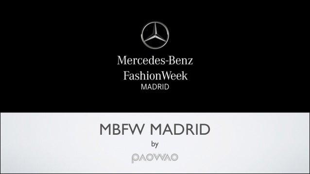 Mercedes Benz Fashion Week 2015 Event Proposal