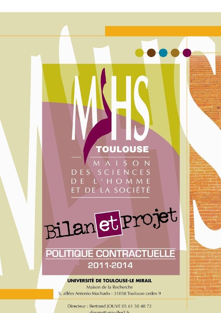 Bilan et Projet MSHS-T